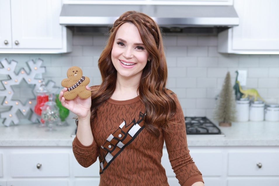 Rosanna Pansino makes Gingerbread Wookiee Cookies