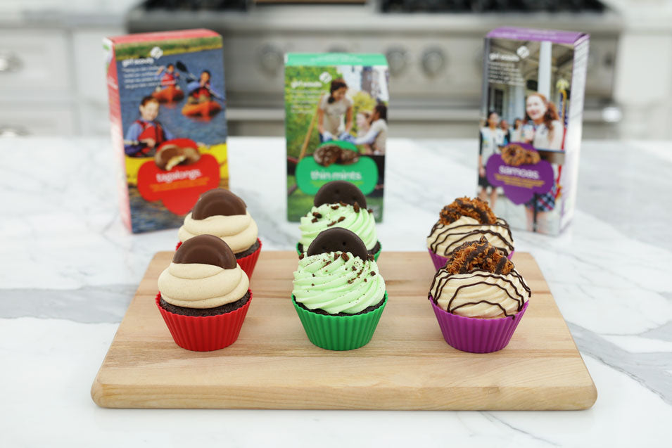 DIY Girl Scout Cookie Cupcakes