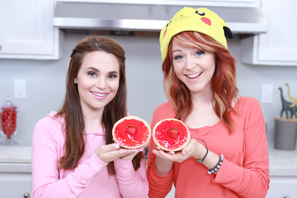 Rosanna Pansino and Lindsey Stirling make Adventure Time Royal Tarts