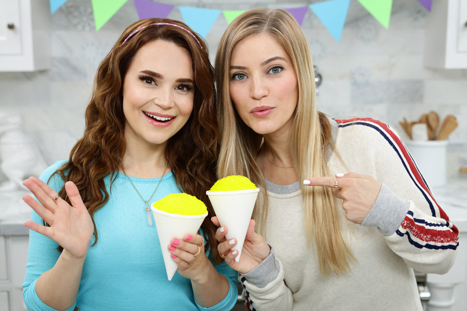 Rosanna Pansino and iJustine make Monsters Inc. Snow Cones
