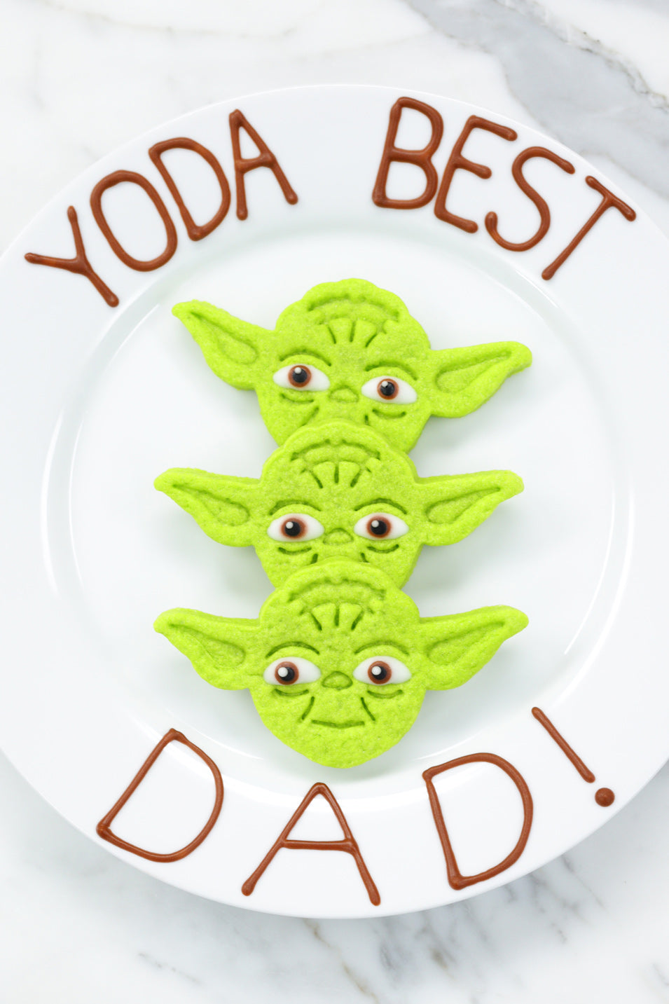 Yoda Cookies for Father's Day