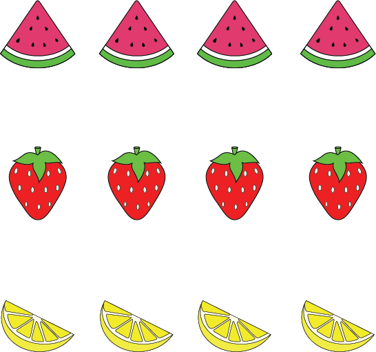 Fruit Cupcakes Template