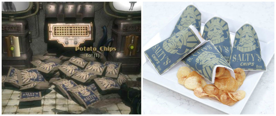 Bioshock Salty's Potato Chips from Nerdy Nummies