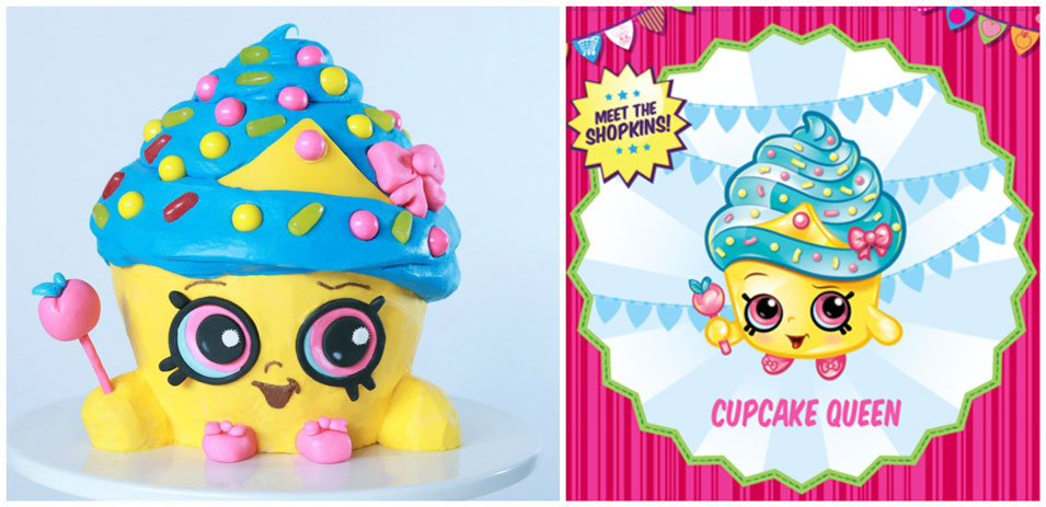 Shopkins Cupcake Queen Cake from Nerdy Nummies
