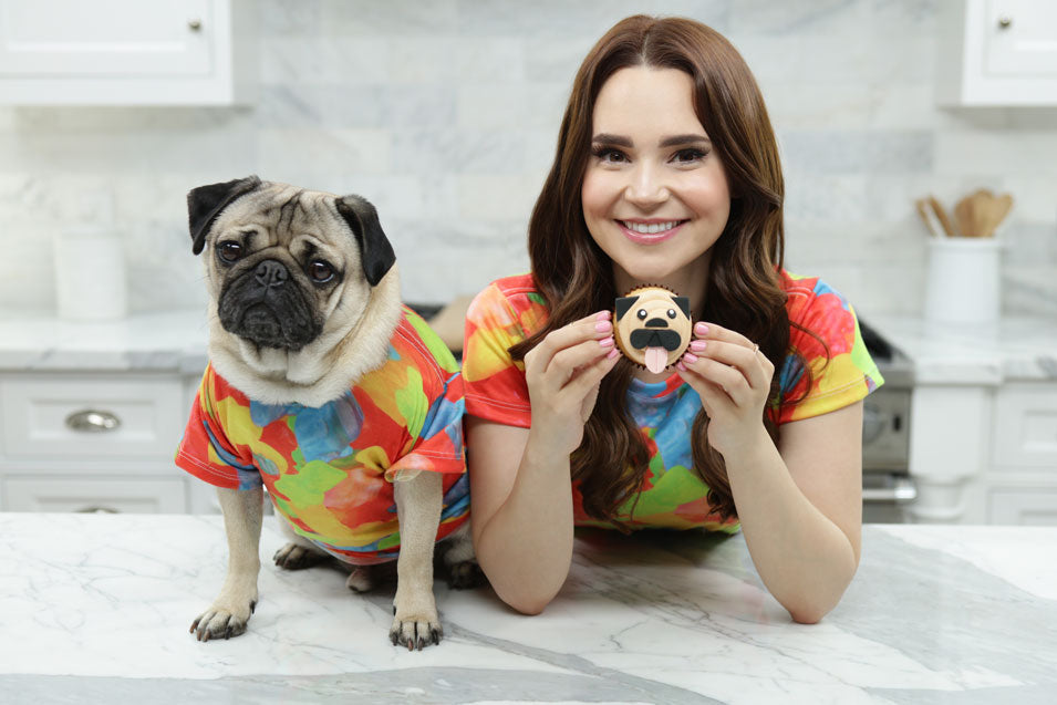 Rosanna Pansino and Doug the Pug