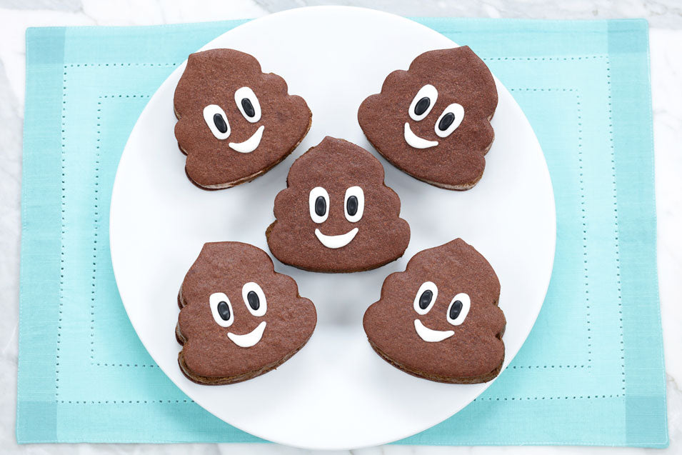 Poop Emoji Ice Cream Sandwiches