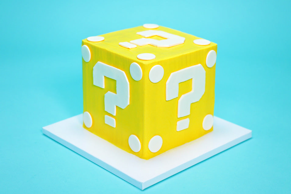 Mario Question Block Surprise Cake