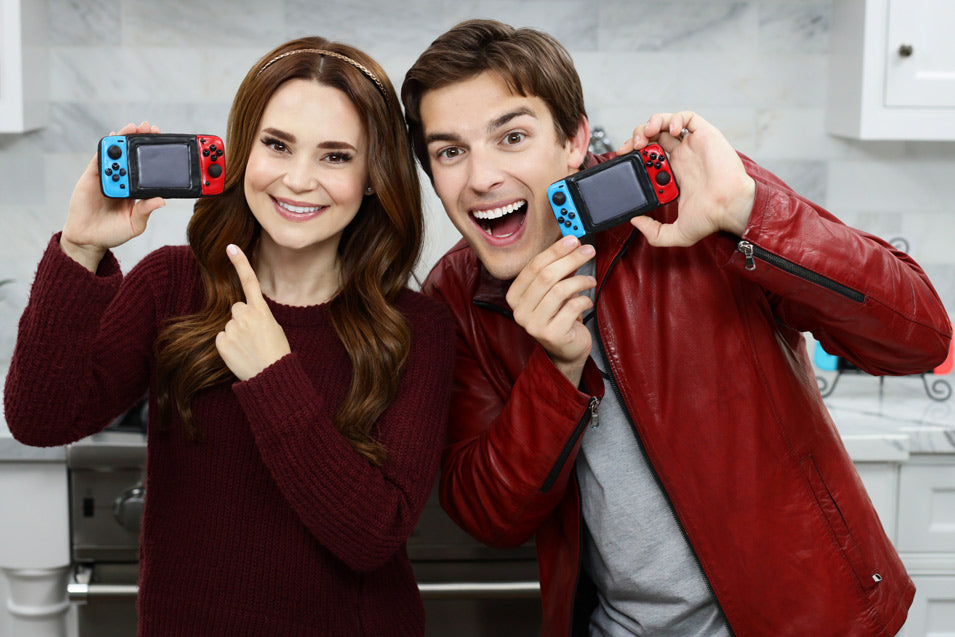 Rosanna Pansino and Mat Pat make Nintendo Switch Cookies