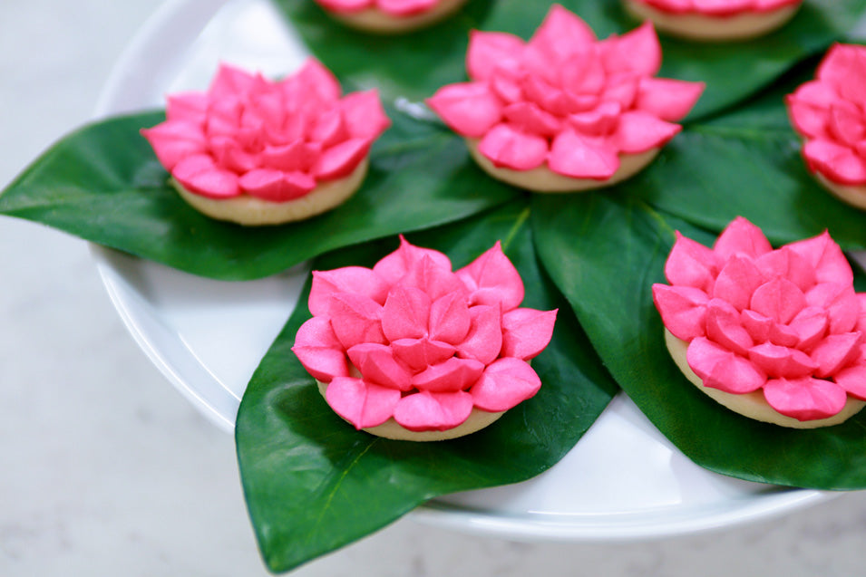 Vegan Percy Jackson Lotus Flower Cookies
