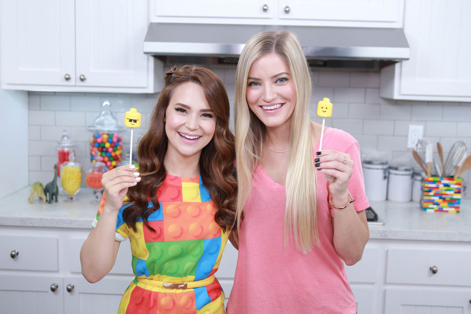 Rosanna Pansino and Justine Ezarik make Lego Marshmallow Pops