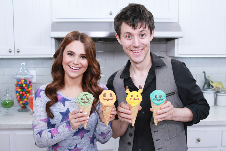 Rosanna Pansino and Kurt Schneider