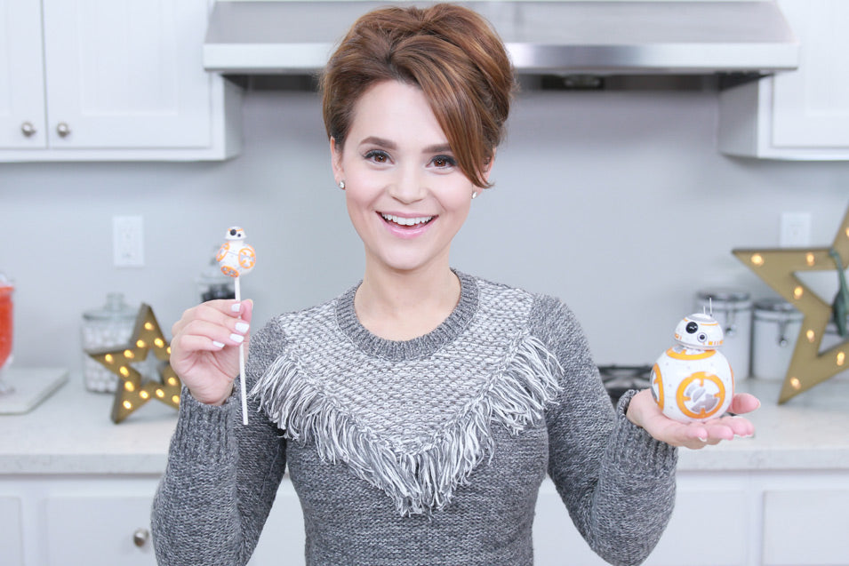 Rosanna Pansino makes BB-8 Cake Pops