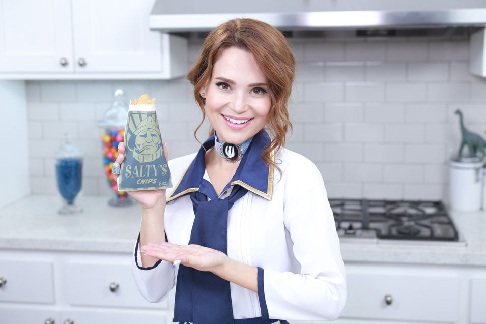 Rosanna Pansino makes Bioshock Salty's Potato Chips