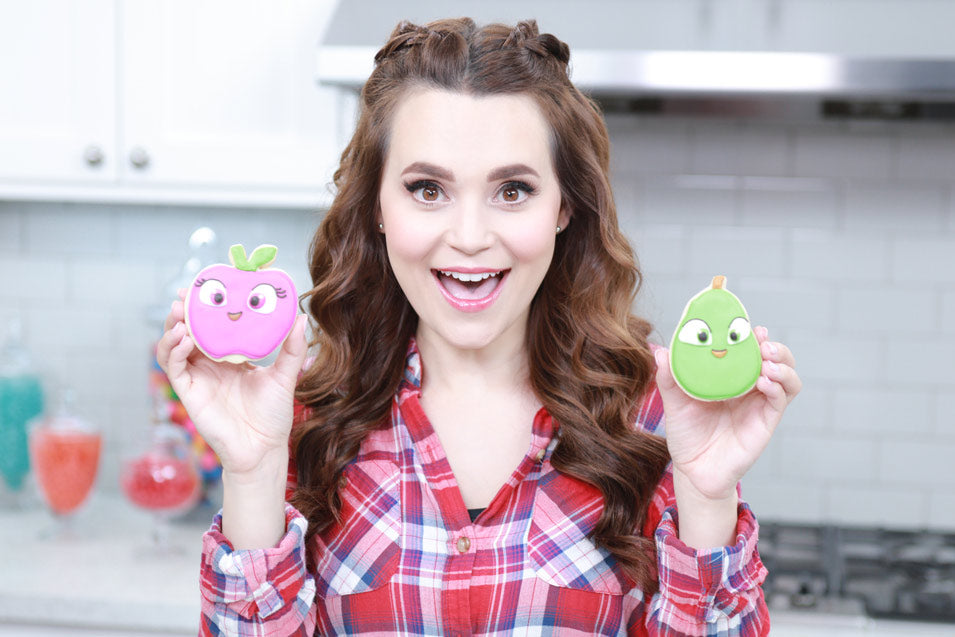Rosanna Pansino makes Farm Heroes Cropsies Cookies