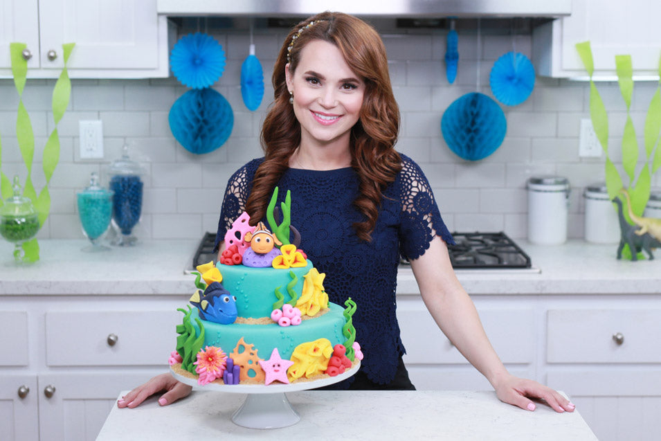 Rosanna Pansino makes a Finding Nemo Cake on Nerdy Nummies