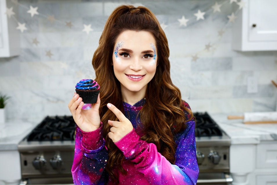 Rosanna Pansino Makes Galaxy Cupcakes