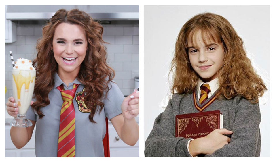Rosanna Pansino makes Harry Potter Butterbeer Milkshake on Nerdy Nummies