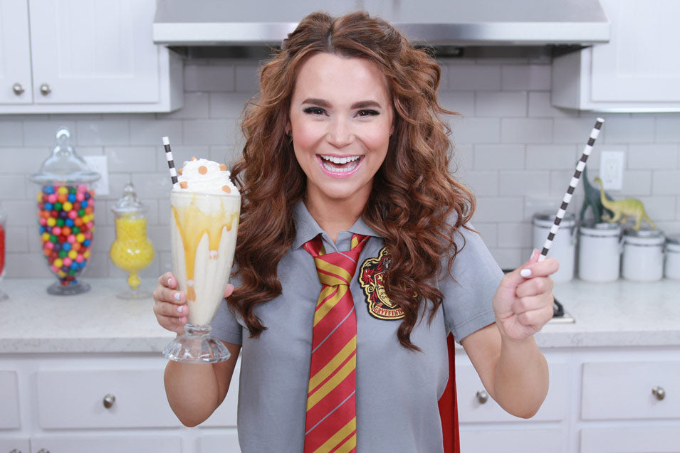 Rosanna Pansino makes a Harry Potter Butterbeer Milkshake