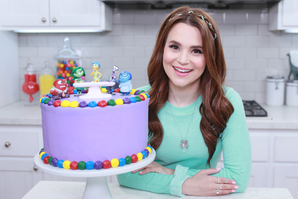 Rosanna Pansino makes an Inside Out Surprise Cake