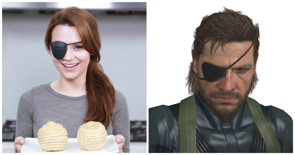 Rosanna Pansino dressed as Snake from Metal Gear Solid
