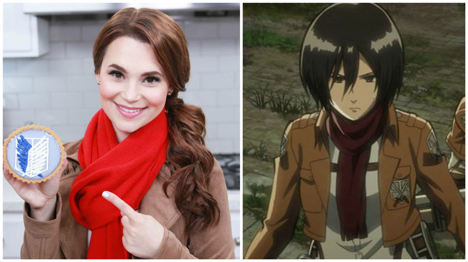 Rosanna Pansino as Mikasa from Attack on Titans