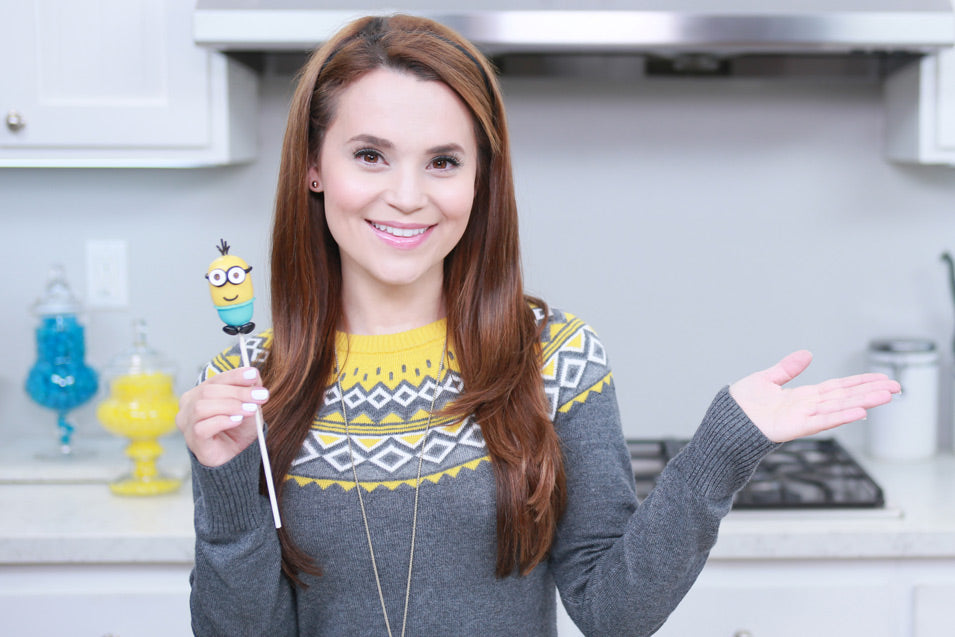 Rosanna Pansino makes Minions Cake Pops