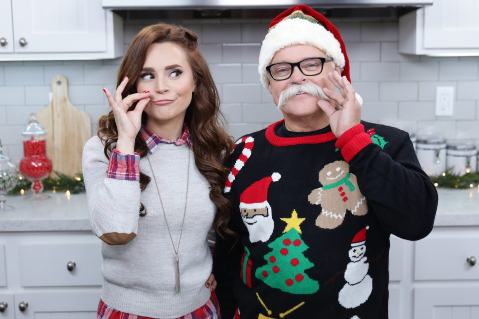 Rosanna Pansino and Papa Pizza make Holiday Pizzas