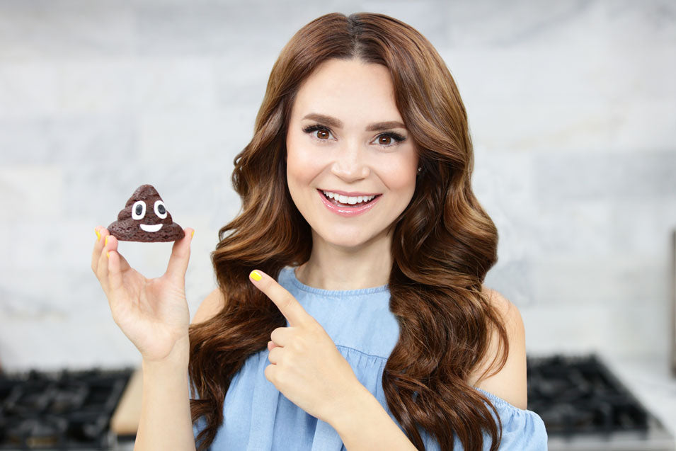 Rosanna Pansino Makes Poo Emoji Brownies