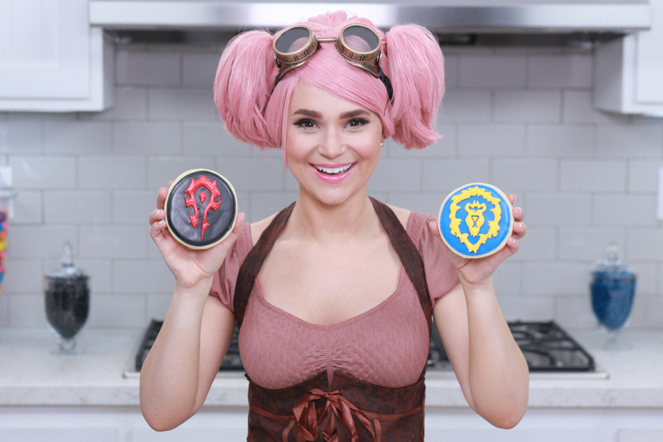 Rosanna Pansino makes Warcraft Cookies