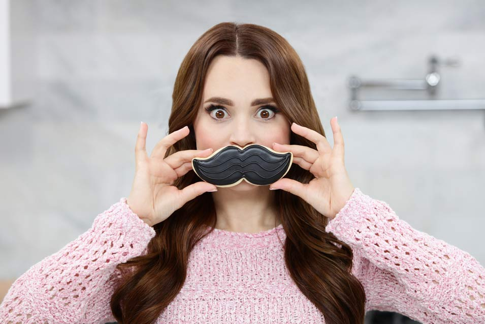 Rosanna Pansino Makes Mustache Cookies