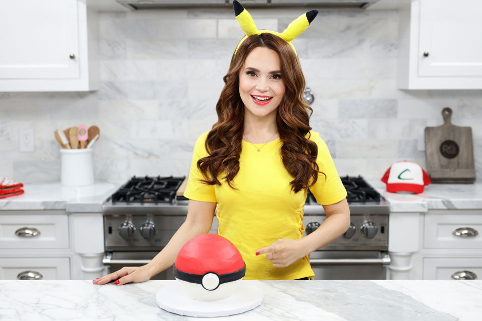 Rosanna Pansino makes a Pokemon Pokeball Cake