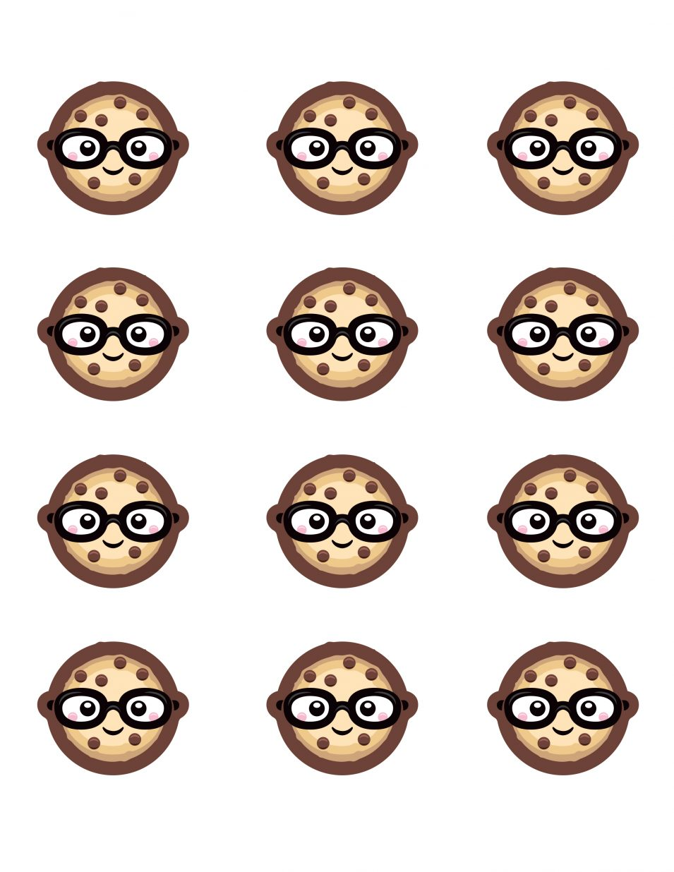 smart cookie macaron glasses template