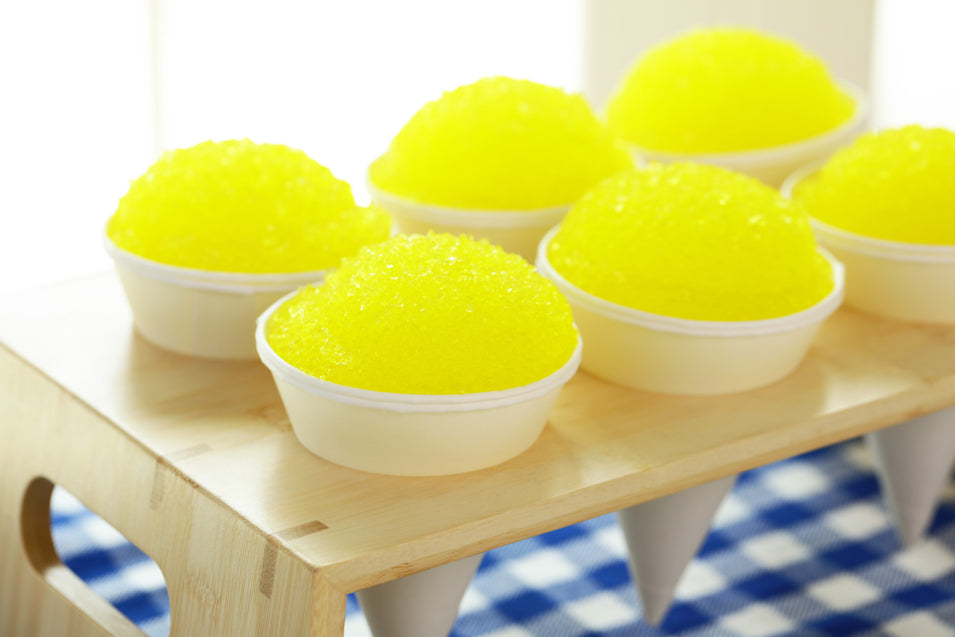 Lemon Snow Cones from Nerdy Nummies