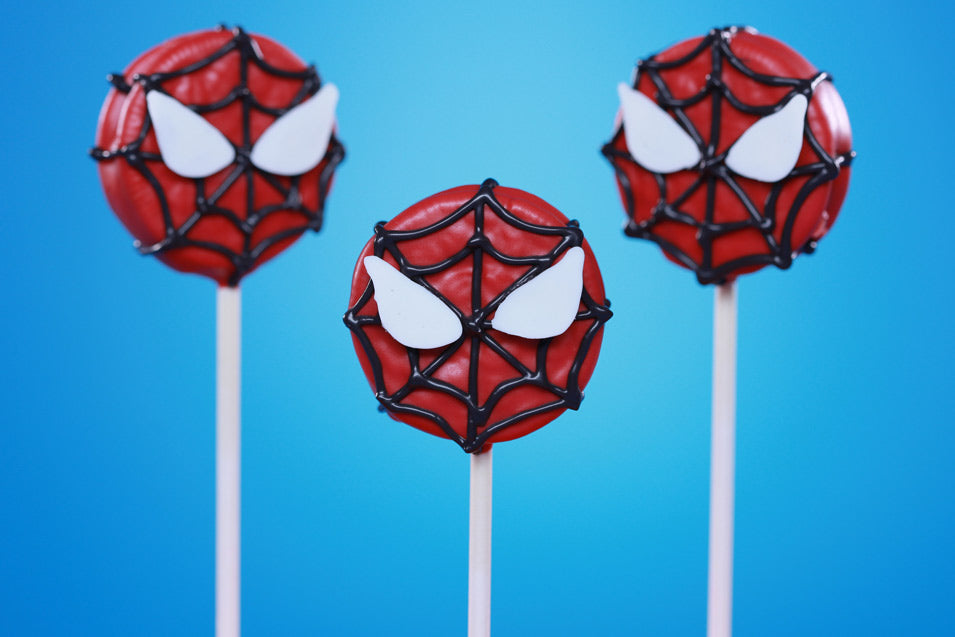 Spiderman Cookie Pops