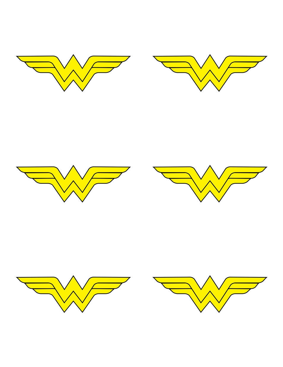 Wonder Woman Insignia Template
