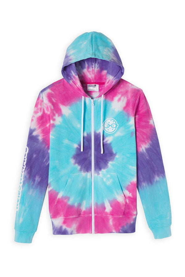 Berry Rad Tie Dye Zip Hoodie | Official Rosanna Pansino Merch