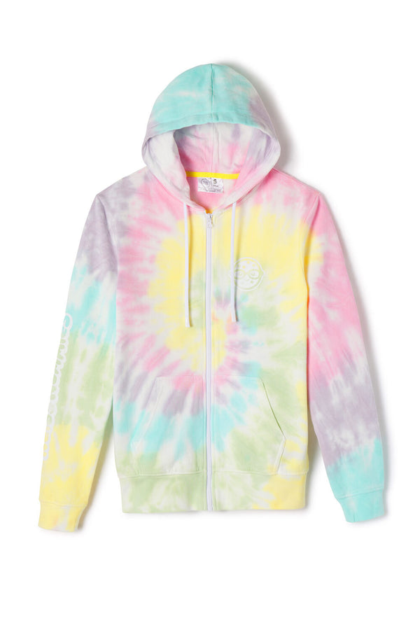 Cotton Candy Tie Dye Zip Hoodie | Official Rosanna Pansino Merch