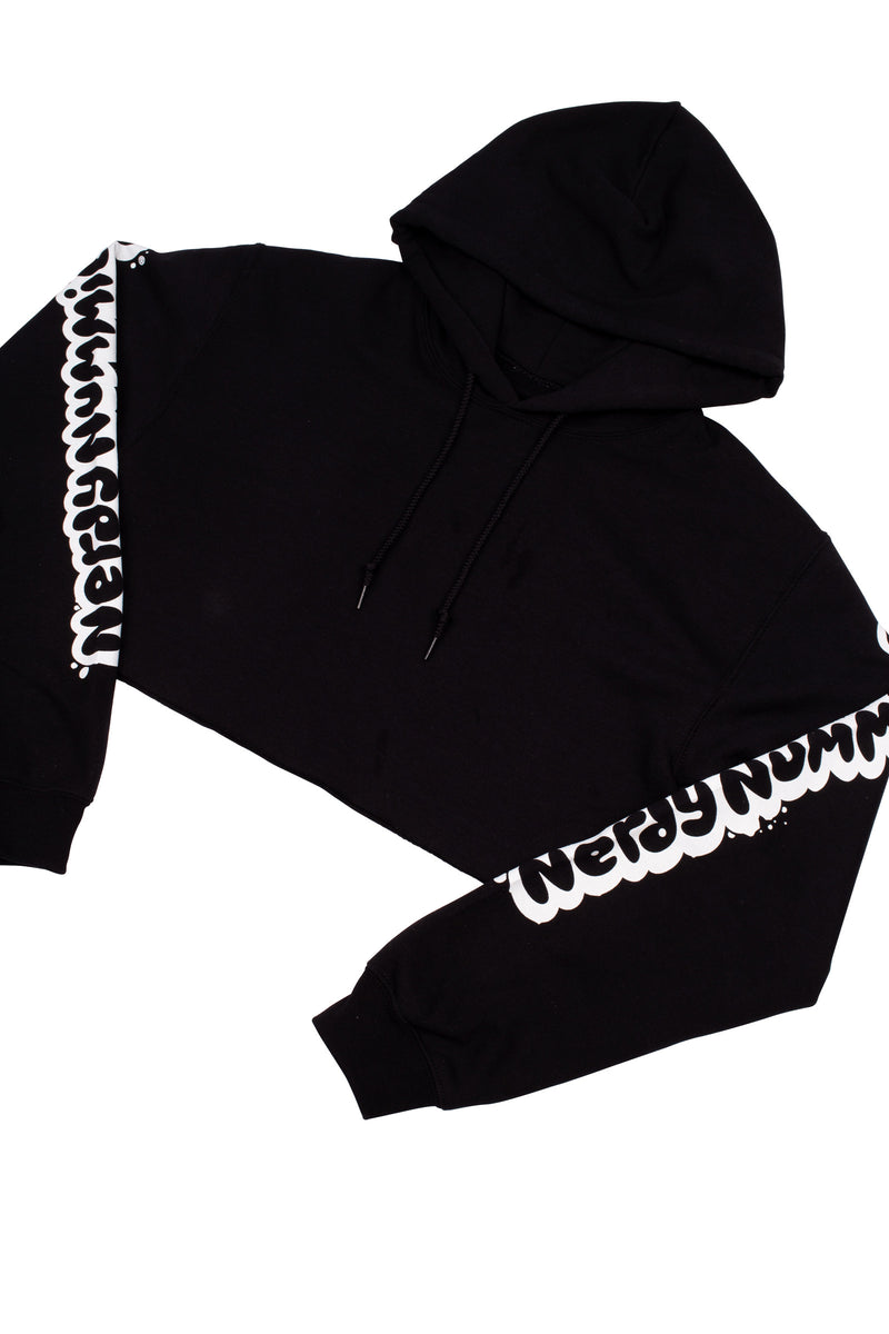 Smart Cookie Crop Hoodie - Black