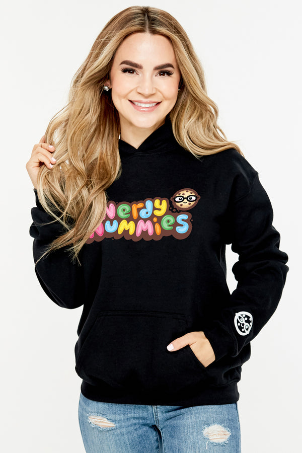 Nerdy Nummies Youth Hoodie - Black