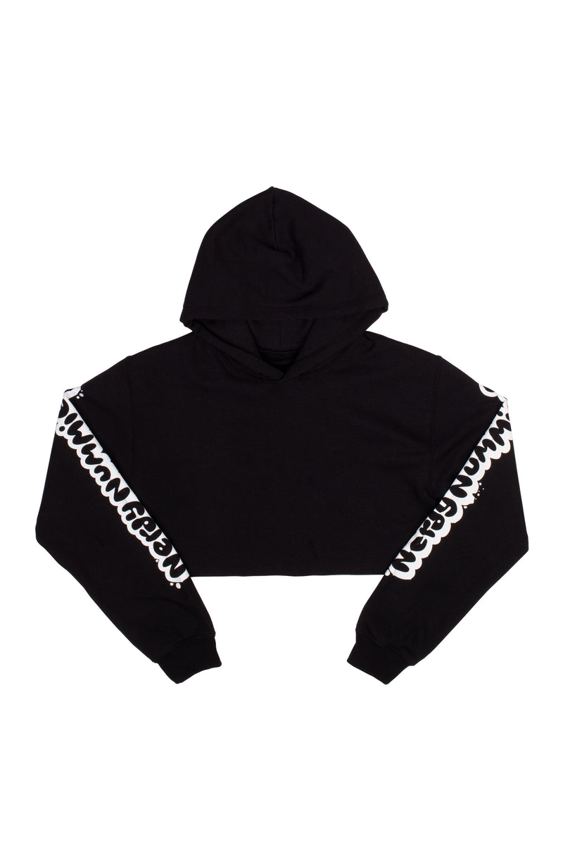 Smart Cookie Youth Crop Hoodie - Black