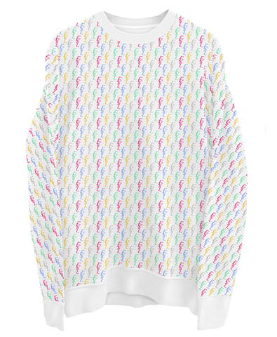 FYL All Over - White Sweater