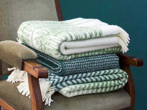 Green WOOLDIKE Throws - Pure NZ Wool