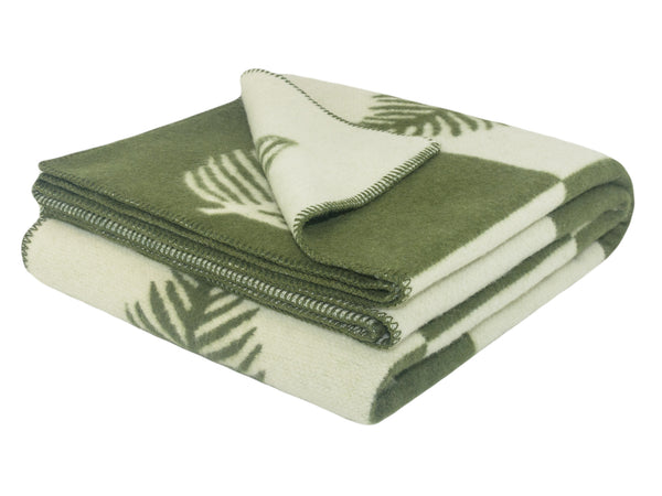 WOOLDIKE Wool Blanket Leaf - green