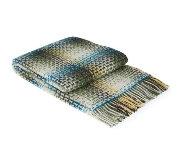 WOOLDIKE Malta Throw - 70 % Merino wool - Blue