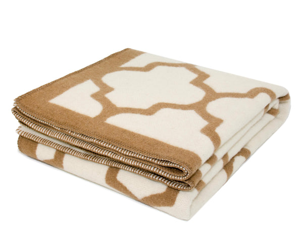 WOOLDIKE Wool Blanket Marrakesh - Beige