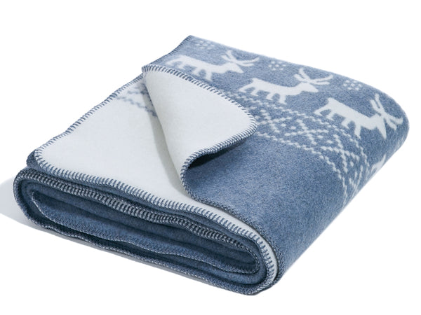 Blanket Reindeer - Blue-Grey