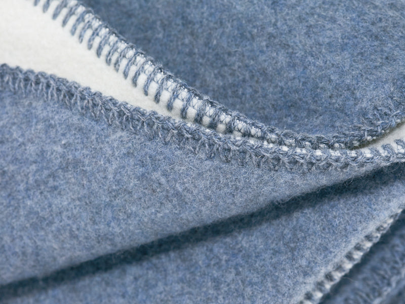 WOOLDIKE Blue-Grey Wool Blanket