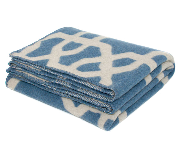 WOOLDIKE Wool Blanket Troy - Blue