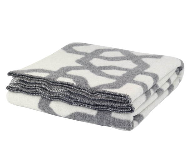 WOOLDIKE Wool Blanket Troy - Grey