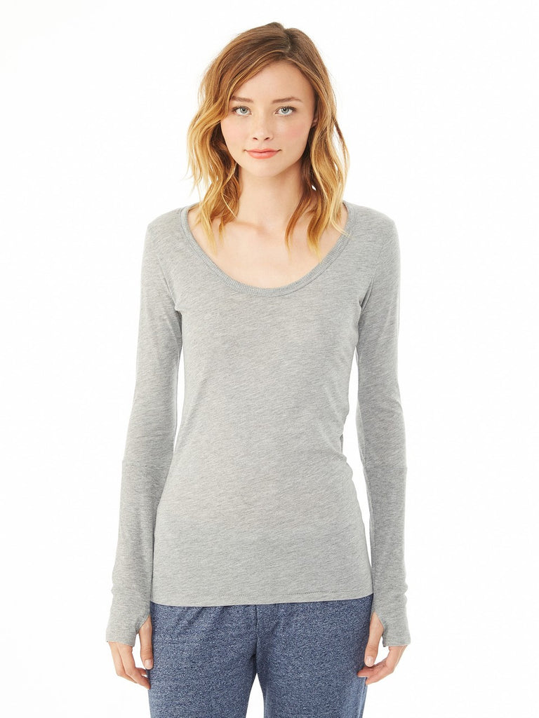 SALE! Alternative 4015 Ladies' Deep Scoop-Neck Tee in Cotton